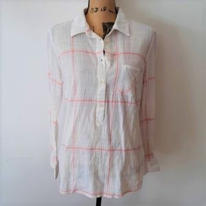Merona Cotton Light Weight Button Down Top Size L